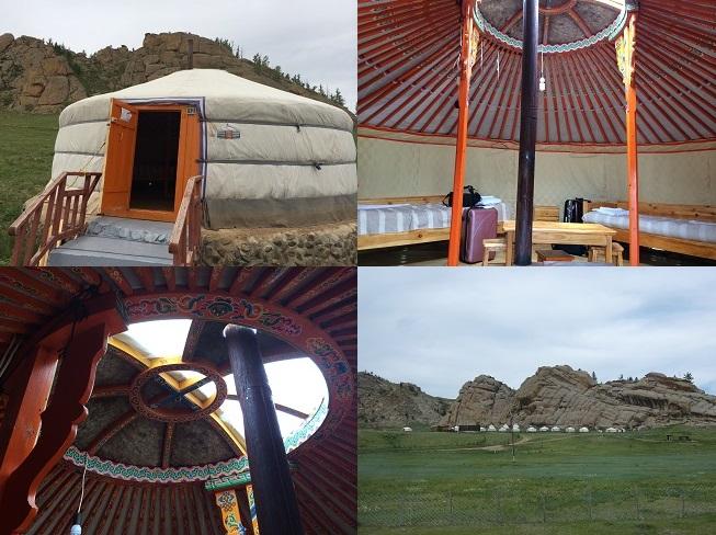 モンゴル-テレルジ ツーリスト・キャンプのゲル