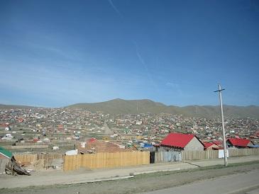 モンゴル-郊外の風景